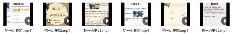 2021初一历史寒假(6讲)张天禄-1